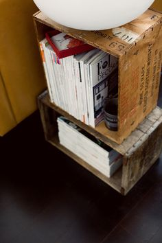 good use of vintage crates