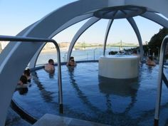 The new wellness section in Rudas bath Budapest was opened in The main attraction of the section is the glass domed jazucci on the top of the building, from where you can enjoy a antastic. Budapest, Thermal Pool, Plunge Pool, Main Attraction, Maine, Wellness, Bath, Building, Outdoor Decor