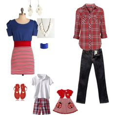 Family Portraits - Red, White & Blue, created by thull on Polyvore