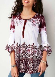 Hokny TD Womens Round Neck Long Sleeve Floral Embroidery Sweatshirt Pullover