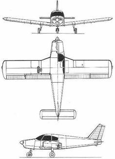 The Piper PA-28 Cherokee was built by Piper Aircraft and