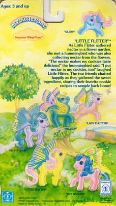 My Little Pony Summerwing Pony backcard