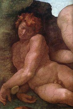 ❤ - MICHELANGELO BUONARROTI - (1475 - 1564) - Sistine Chapel - Creation of Eve (detail).