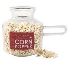 I love eating popcorn.  Especially while watching reruns of 24.  However, getting it just right on the stove never seems to work.  This seems foolproof!  And you could even add butter to it.  Yes!