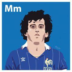M is for Michel Platini. #atoz #tpitr