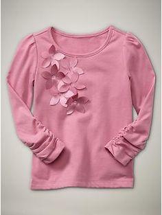puffed sleeve petal top  elle pink  16.96