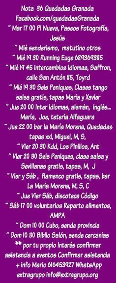Quedadasgranada Quedadas Granada, intercambios de idiomas inglés, alemán, francés, senderismo, flamenco, Kdd, quedadas, salsa, tango, running, Deportes, voluntariado, extragrupo   #Quedadasgranada #Quedadas #Granada, #intercambios de #idiomas #inglés, #alemán, #francés, #senderismo, #flamenco, #Kdd, #salsa, #tango, #running, #Deportes, #voluntariado, #extragrupo   Nota  36 Quedadas Granada  Facebook.com/quedadasGranada  ~ Mar 17 00 Pl Nueva, Paseos Fotografía, Jesús  ~ Mié senderismo…