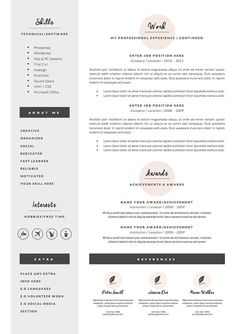 Resume Template For Ms Word   And  Page Resume Cover Letter