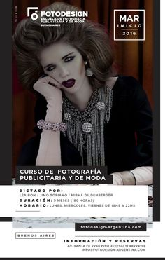 Carrera de Fotografia Publicitaria:  Inscripciones abiertas para mas informacion  www.fotodesign-argentina.com info@fotodesign-argentina.com