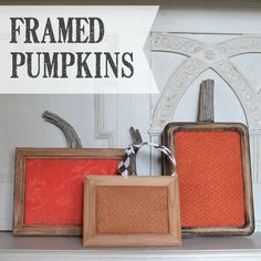 Want fun and funky Thanksgiving pumpkins?  These are easy to make from thrift store frames. country-design-style