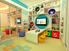 Things to Consider before Making Kids Playground Design Daycare Design, Playroom Design, Playroom Decor, Kids Cafe, Kindergarten Design, Playground Design, Toy Rooms, Kid Spaces, Home Interior