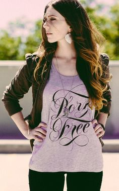 """You were """"Born Free"""" to be you! Get this shirt to help rescue a young girl in India from sex trafficking! #Sevenly"""