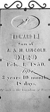 In December of 1849 Eddie became quite ill with what was thought to be diphtheria. Most likely the disease was really pulmonary tuberculosis. Mary rubbed his chest with balsam. However, after 52 days of acute illness, Eddie passed away on February 1, 1850. He wasn't even four years old.