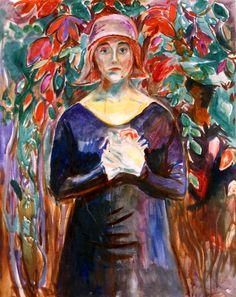 Model in the Garden Edvard Munch - 1930