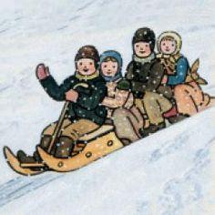 Josef Lada, Czech folk artist Vintage Christmas Cards, Illustration Art, Illustrations, Winter Christmas, Czech Republic, Golden Age, Childrens Books, Folk Art, Disney Characters