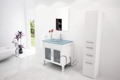 Furniture style vanities add decor in small bathroom where you don't have enough real estate to add other bathroom accessories. Furniture vanities are built with the same attention to detail seen in traditional types of home furnishing and are deserving of a category of their own.