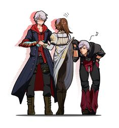 Devil May Cry: Nero, Kyrie and Dante