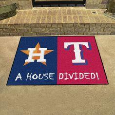 """Houston Astros - Texas Rangers House Divided All Star Area Rug Floor Mat 34"""""""" x 45"""""""""""