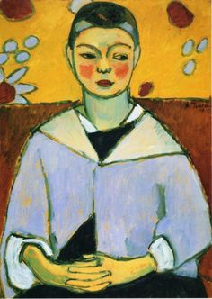 Portrait of Andreas by Alexei Jawlensky (Russian-born German Expressionist painter, 1864-1941)