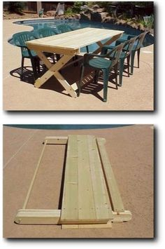 folding picnic table @Lori Bearden Bearden Bearden Eagan Chaffin we should make these!
