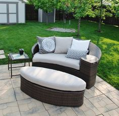 Awesome wicker patio daybed from Target.