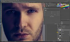 screen grab of photoshop panel showing the use of selective color in photoshop to retouch skin . After edit image