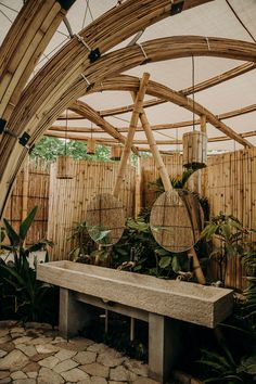 Bamboo Art, Bamboo Crafts, Bamboo Ideas, Bamboo Architecture, Architecture Design, Home Design, Interior Design, Design Ideas, Bamboo House Design