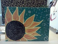 Sunflower painting by Laura Ashley
