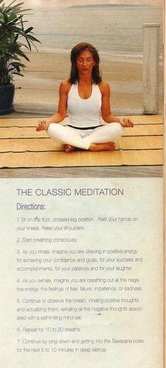 Start doing the classic meditation pose.. :)