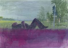 Peter Doig - Grasshopper, 1999, oil and watercolor on paper. 16 1/2 x 23¼ in. (41.9 x 59 cm.)
