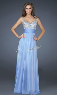 I love this cornflower blue! It makes for a gorgeous gown!