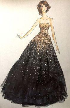 SPARKLY Black Gown FROM: http://media-cache-ec0.pinimg.com/originals/7c/4a/a7/7c4aa7cadc654e9034ab07cccbf3e85f.jpg