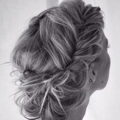 Braided Messy Updo -Boho Chic Bridal Hair