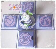 #scrapbookingcard #unpiccolomondodicarta #weddingcard #explosionbox