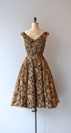 Honey Pot dress vintage 1950s dress lace 50s dress by DearGolden