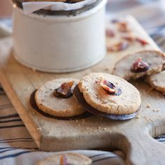 Bacon-Pecan Sandies (You replace some of the butter in these cookies with bacon fat. Chocolate and bacon is a strange combination, you say. Oh, no, just wait until you've tried it.)