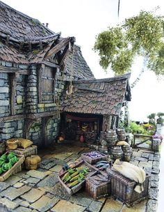 Converted Building by Simone Pohlenz Medieval Houses, Painting Competition, Fantasy Miniatures, Medieval Fantasy, Model Homes, Decoration, Scale Models, Scenery, Castle
