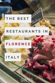 In Italy, travel can be all around food.Here is a list of the best restaurants in Florence Italy, ordered by time of the day. #ItalyVacation