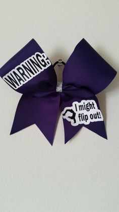 Cheer bow in custom color choice Warning: by CurlyNoodleCreations