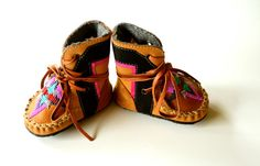 Baby and Toddler handmade leather beaded woollined by MWMeganWoods Little Baby Girl, Little Babies, Handmade Leather, Baby Shoes, Trending Outfits, Unique Jewelry, Handmade Gifts, Kids, Clothes