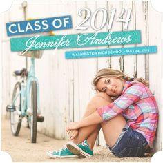 Gleeful Sparkles - #Graduation Announcements - Victoria Justice - Jewel Green #TinyPrintsGrad