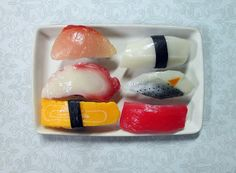 life size sushi sashami decoden kawaii fake food by bunnysundries