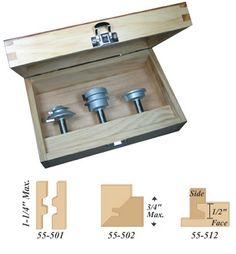 3-Pc. Ultimate Joinery Router Bit Set