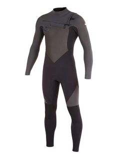 Quiksilver Men Wetsuit Syncro GBS 4/3 Chest Zip - Black/Graphite
