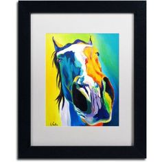 Trademark Fine Art Up Close And Personal Canvas Art by DawgArt, White Matte, Black Frame, Size: 16 x 20