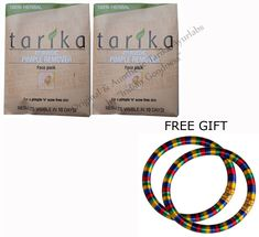 Tarika Ayurvedic Pimple Remover Face Pack (Set Of 2) 20g Each With FREE GIFT (Pair of Multicolor Bangles) and FREE SHIPPING. Special Offer: Pair of Traditional Exotic Multicolor Bangles as Free Gift. Original & Authentic TARIKA Product. Fast Order Processing with Free Shipping & FREE GIFT. Item will be shipped from our shipment office in India. It normally takes 10-15 business days in delivery to the USA via Global Priority Airmail Post. Signature will be required at the time of delivery....