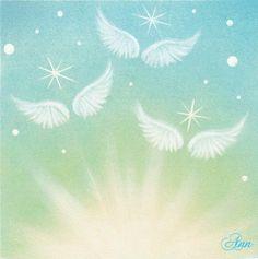『Aile Art』Aile はフランス語で翼。エールアートは天使の翼のパステルアートです。天使からの「エール」があなたに届きますように…♪天使...|ハンドメイド、手作り、手仕事品の通販・販売・購入ならCreema。 Soft Pastel Art, Chalk Pastel Art, Pastel Drawing, Chalk Pastels, Chalk Art, Angel Artwork, Psy Art, Art Tips, Watercolor