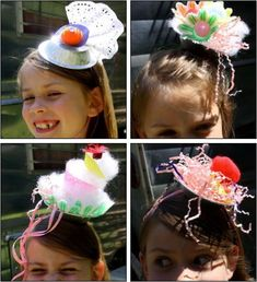 pie tin fascinators - great for Brownies and completing the Queen's Diamond Jubilee Challenge