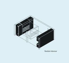Het micro-appartement in de stad - XS Deluxe Presentation, Architecture, Arquitetura, Architecture Design