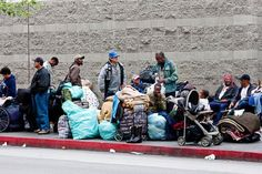 Homeless People in the Center of Los Angeles Izismile.com